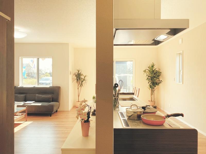 5号地モデルハウス:LDKキッチン