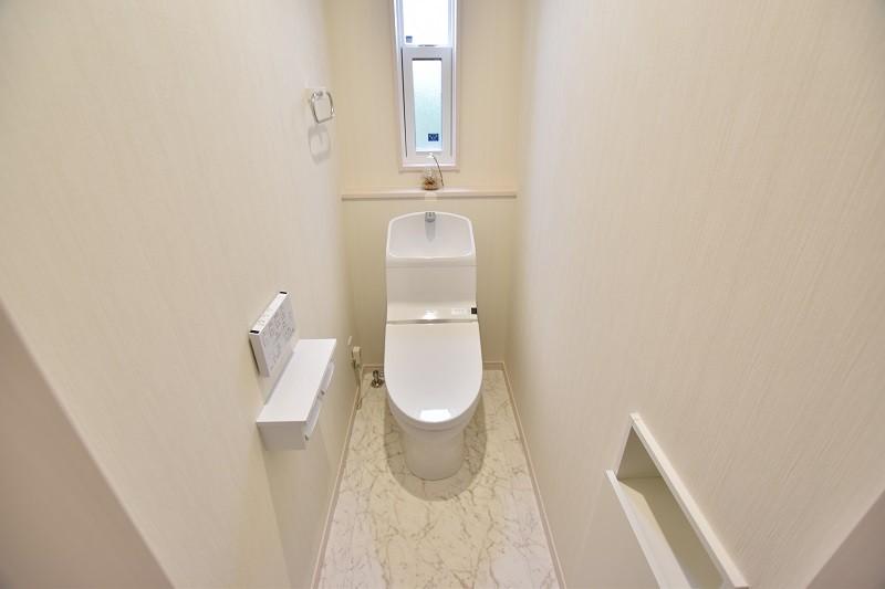 トレステージ白水ヶ丘2丁目4号地モデルハウス:トイレ