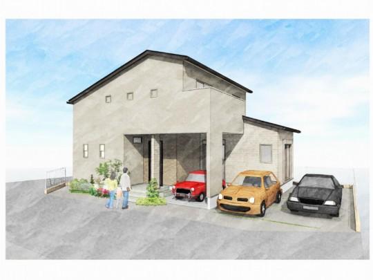 トレステージ鳥栖元町Ⅱ1号地モデルハウス:完成予想パース