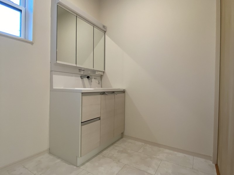 トレステージ鳥栖若葉小前Ⅱ3号地モデルハウス:洗面脱衣室