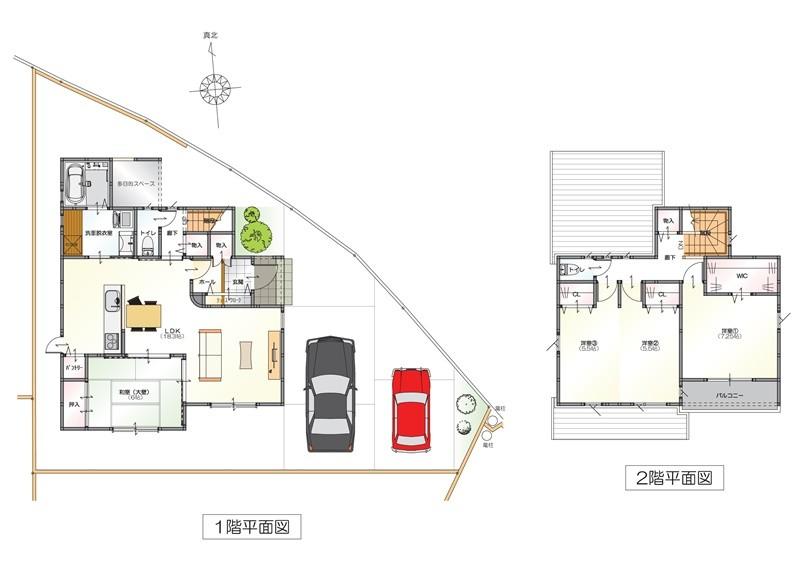 トレステージ野中町Ⅳ:3号地モデルハウス平面図