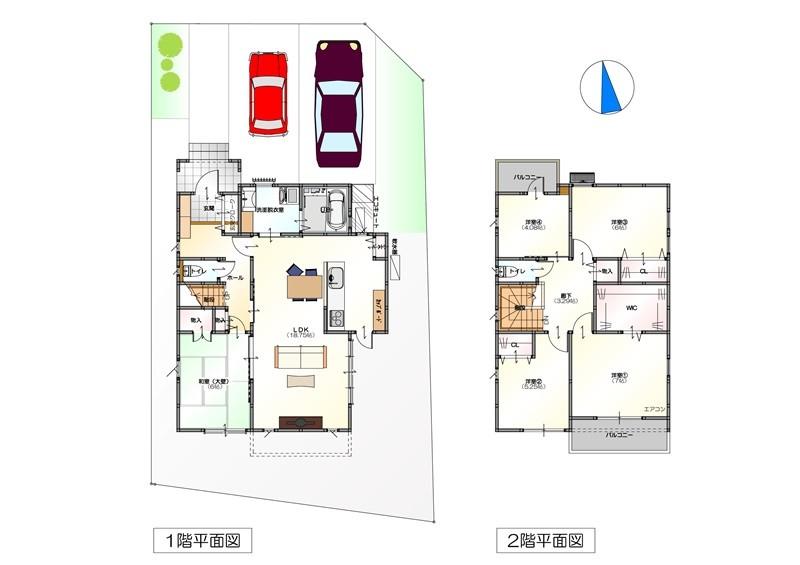 1号地モデルハウス平面図