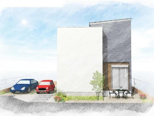 2号地モデルハウス:完成予想パース