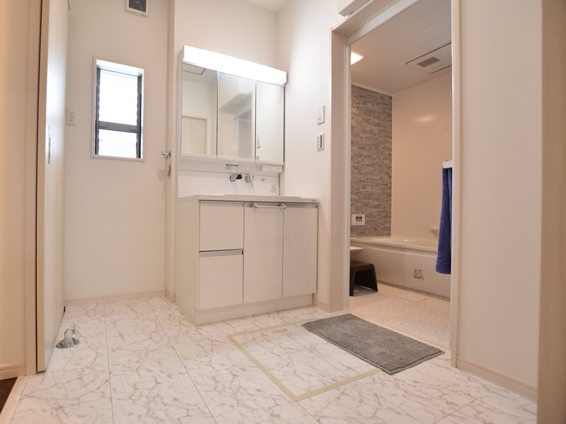 1号地モデルハウス:洗面脱衣室