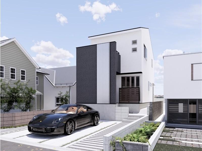 1号地モデルハウス:外観(イメージパース)