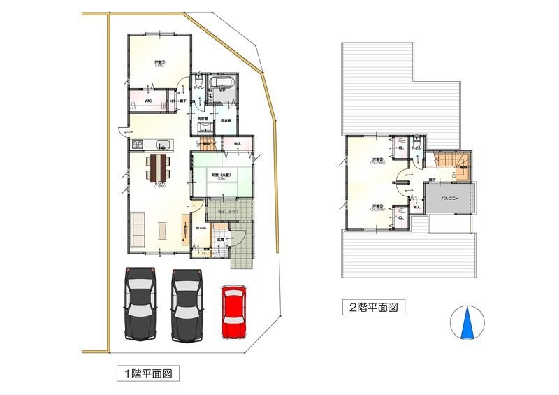 8号地モデルハウス:間取り図
