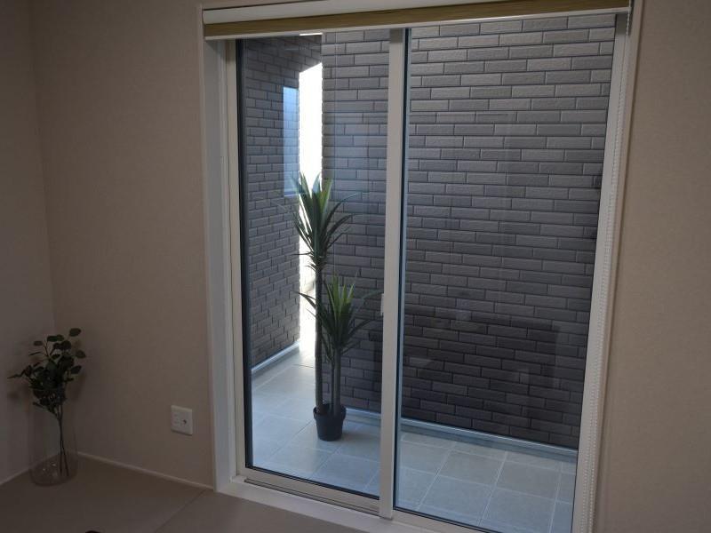 和室前のテラスは坪庭としても利用可能です!
