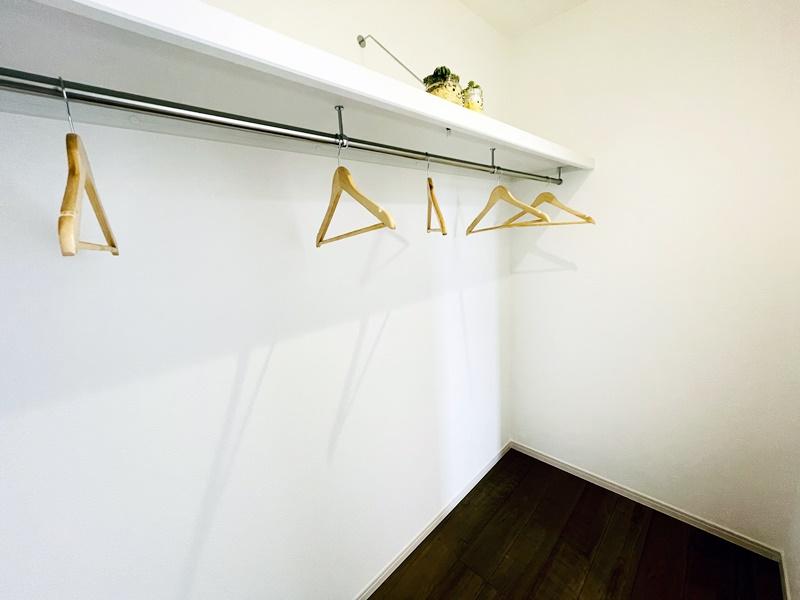 2号地モデルハウス:主寝室はウォークインクローゼット付き!
