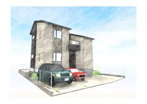 5号地モデルハウス:完成予想パース