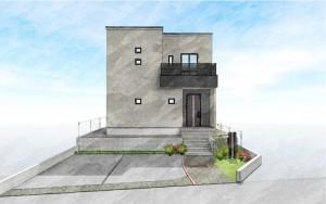 6号地モデルハウス:完成予想パース