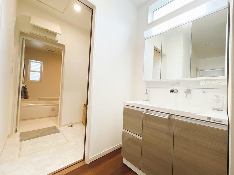 [久留米市 新築一戸建て]5号地(平屋)モデルハウス:洗面室