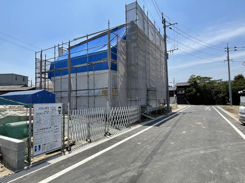 8号地モデルハウス:外観(6月1日撮影) 7月中旬ごろ完成予定です!