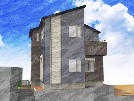 トレステージ中尾1丁目1号地モデルハウス:完成予想パース