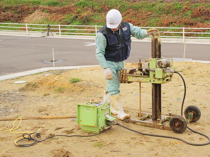 熊本県内・熊本市内での地盤調査・解析の画像 -熊本,熊本市の一戸建て,新築,新築一戸建て,分譲住宅