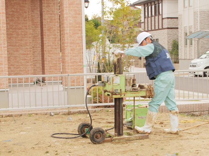 熊本県内・熊本市内で新築一戸建てをお探しなら川﨑ハウジング、こだわりの地盤調査・解析方法で徹底的に解析します -熊本,熊本市の一戸建て,新築,新築一戸建て,分譲住宅