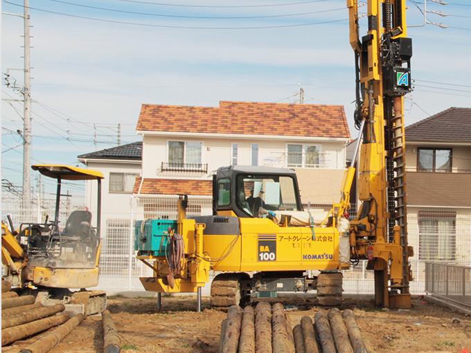 川﨑ハウジングでは地盤にあった改良を行っています -熊本,熊本市の一戸建て,新築,新築一戸建て,分譲住宅