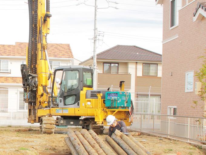 熊本,熊本市の一戸建て,新築,新築一戸建て,分譲住宅なら川﨑ハウジング、抜かりない地盤改良工事で安心・安全