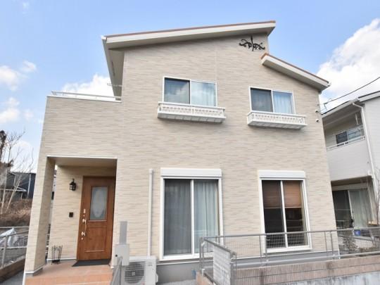 熊本県熊本市北区兎谷1丁目 新築一戸建て 3号地モデルハウス外観
