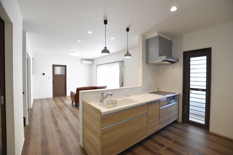 熊本県熊本市北区兎谷1丁目 新築一戸建て 5号地モデルハウス・会話の弾む対面式キッチン