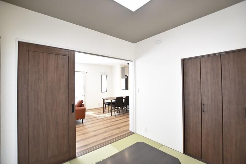 熊本県熊本市北区兎谷1丁目 新築一戸建て 5号地モデルハウス・LDKと続き間の和室