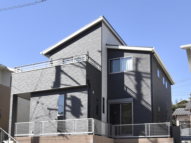 熊本県熊本市北区兎谷1丁目 新築一戸建て 5号地モデルハウス外観