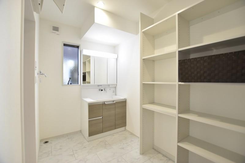 熊本県熊本市北区兎谷1丁目 新築一戸建て 5号地モデルハウス・洗面脱衣室