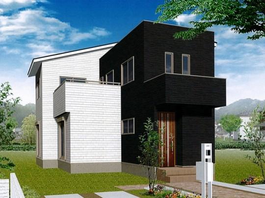熊本市西区城山下代4丁目 新築一戸建て 1号地モデルハウスイメージパース