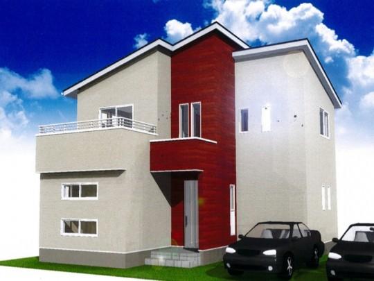 熊本市北区麻生田2丁目 新築一戸建て 2号地モデルハウスイメージパース