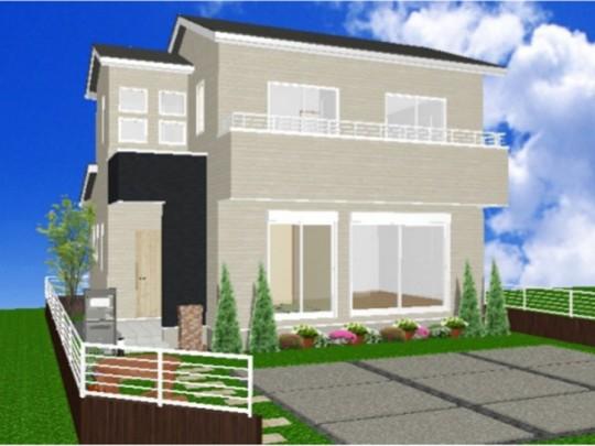 熊本市東区戸島6丁目 新築一戸建て 6号地モデルハウスパース