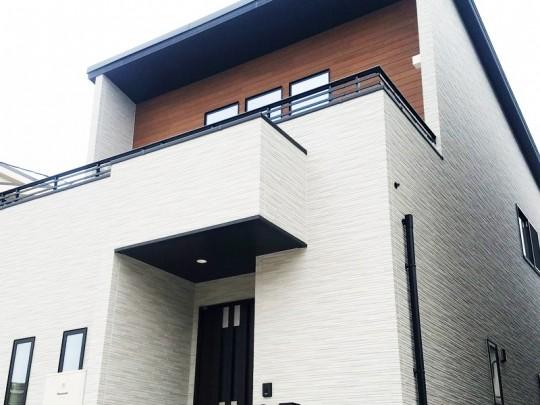 熊本市北区鶴羽田4丁目 新築一戸建て 3号地モデルハウス外観