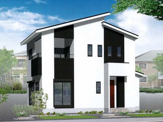 熊本県上益城郡益城町福富  新築一戸建て 2号地モデルハウスイメージパース