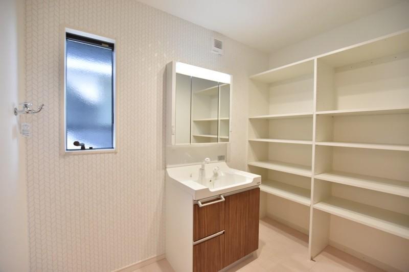 熊本市東区御領2丁目 新築一戸建て 2号地モデルハウス・洗面脱衣室