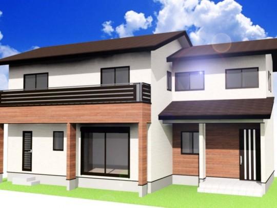 熊本市東区御領2丁目 新築一戸建て2号地モデルハウスイメージパース