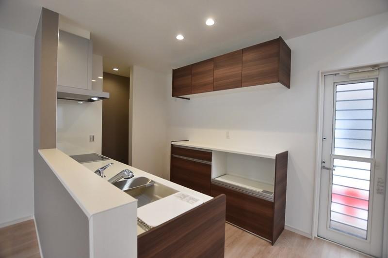 熊本市東区戸島西7丁目 新築一戸建て 5号地モデルハウス・キッチン