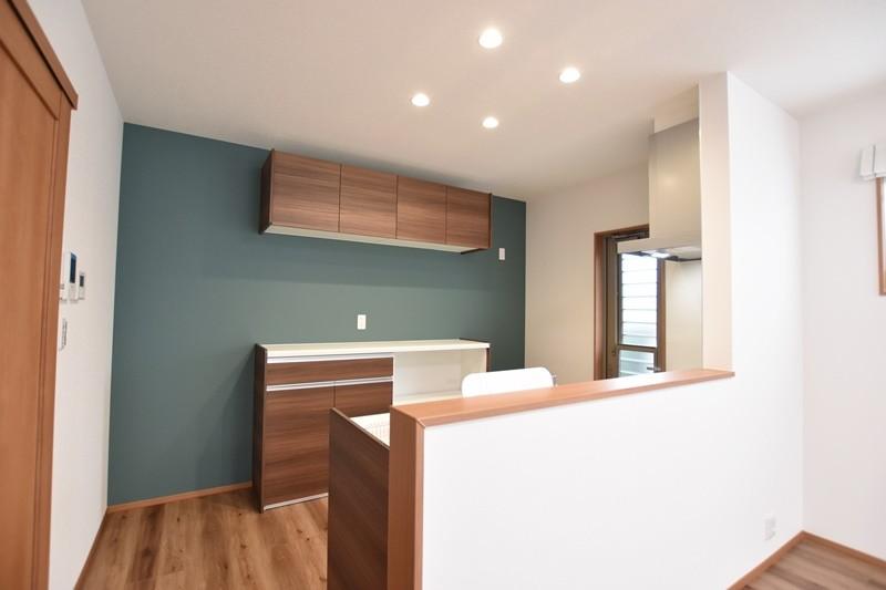 熊本市南区薄場2丁目 新築一戸建て 1号地モデルハウス・キッチン