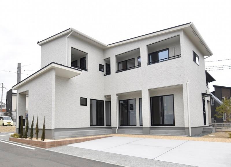 熊本市東区戸島西7丁目 新築一戸建て 9号地モデルハウス外観
