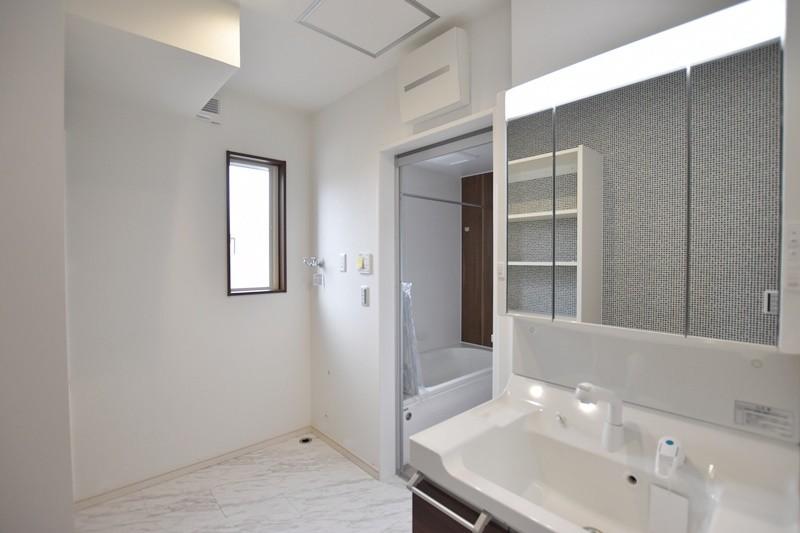 熊本市東区戸島西7丁目 新築一戸建て 5号地モデルハウス・洗面脱衣室