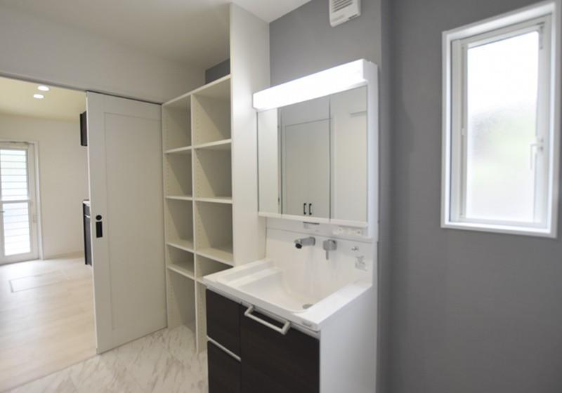 熊本市東区戸島西7丁目 新築一戸建て 7号地モデルハウス洗面脱衣室