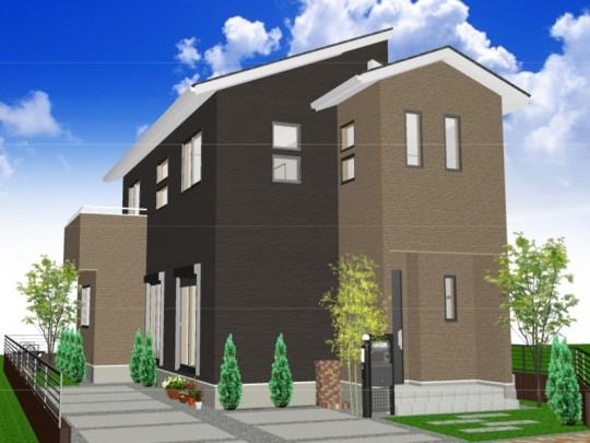 熊本市東区八反田2丁目 新築一戸建て 3号地モデルハウス外観イメージパース