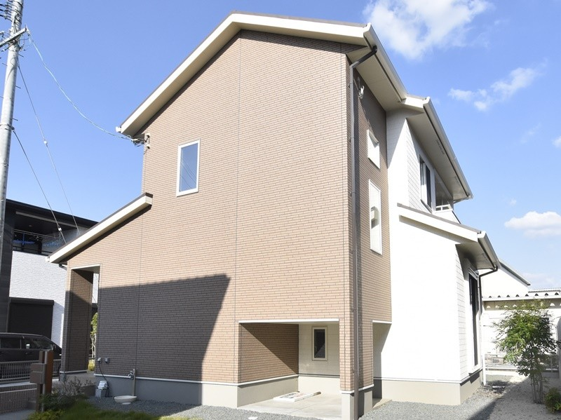 熊本市北区植木町投刀塚 新築一戸建て 4号地モデルハウス外観