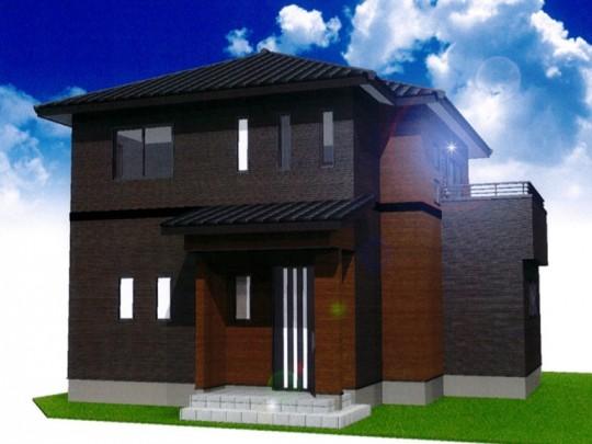 熊本市北区植木町投刀塚 新築一戸建て 5号地モデルハウスイメージパース
