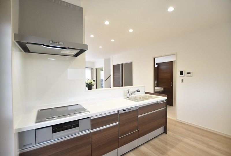 熊本市北区楡木4丁目 新築一戸建て 1号地モデルハウス・キッチン