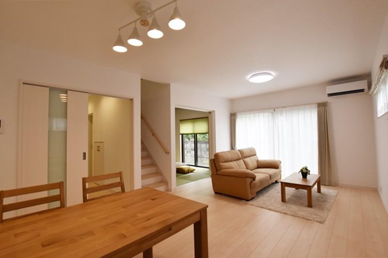 熊本市北区楡木4丁目 新築一戸建て 2号地モデルハウス・リビング