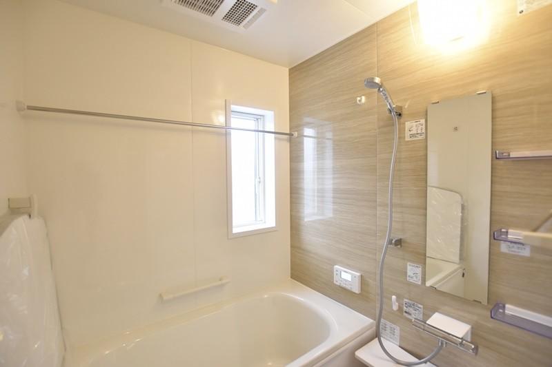 熊本市北区楡木4丁目 新築一戸建て 1号地モデルハウス・浴室換気乾燥機付きの浴室
