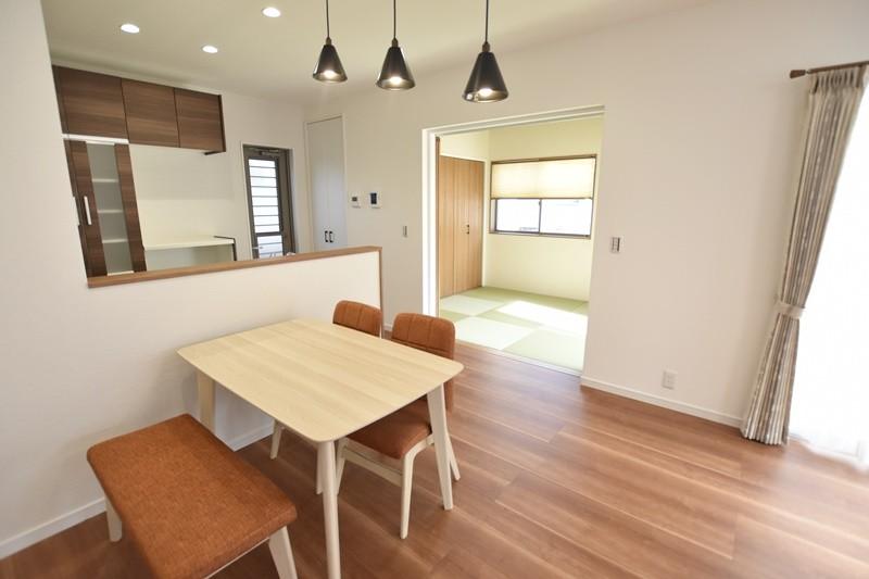 熊本市東区戸島1丁目 新築一戸建て 1号地モデルハウス・ダイニング
