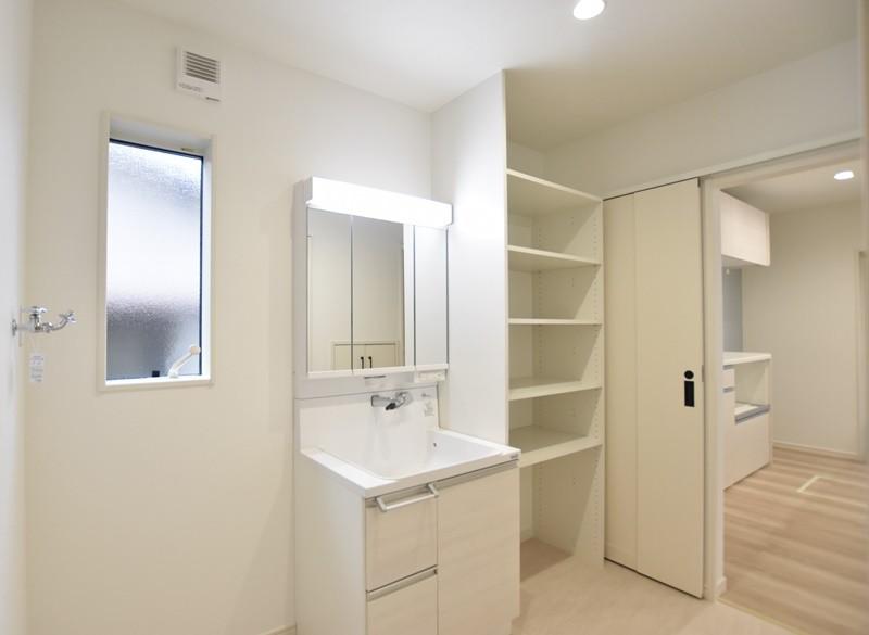 熊本市東区上南部2丁目 新築一戸建て 2号地モデルハウス・洗面脱衣室