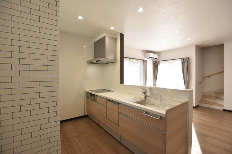 熊本市東区小山5丁目 新築一戸建て 4号地モデルハウス・キッチン