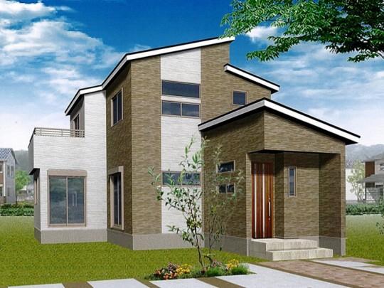 益城町宮園 新築一戸建て 1号地モデルハウスイメージパース