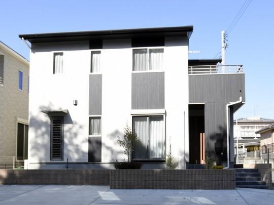 菊陽町津久礼 新築一戸建て 3号地モデルハウス外観