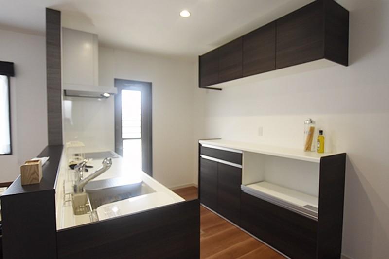 益城町宮園 新築一戸建て 2号地モデルハウス・キッチン